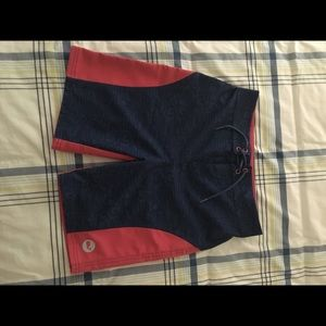 "Vineyard Vines ""linear tuna"" Swim Trunks boys 8-10"